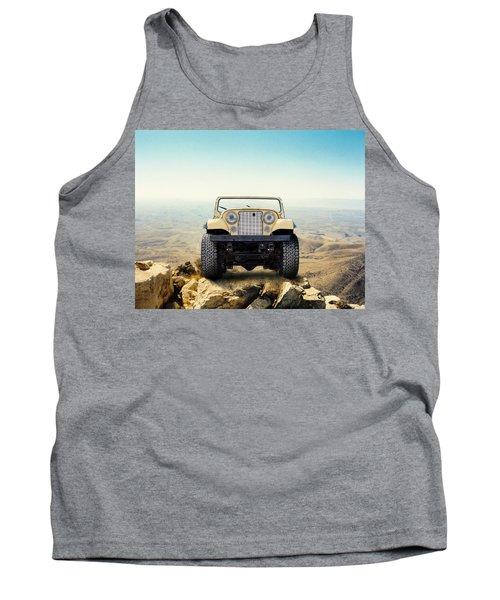 Jeep On Mountain Tank Top