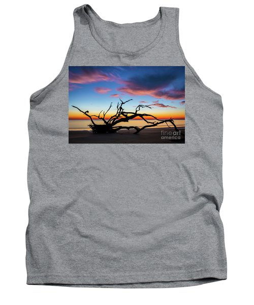 Jekyll Island Sunrise On Driftwood Beach Tank Top