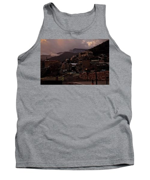 Tank Top featuring the photograph Jerome On The Edge Of Sunrise by Ron Chilston