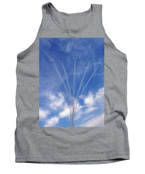 Jet Planes Formation In Sky Tank Top