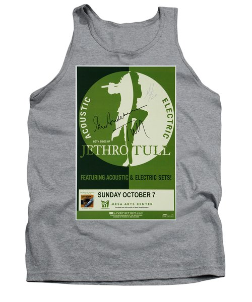 Jethro Tull Signed Poster Tank Top