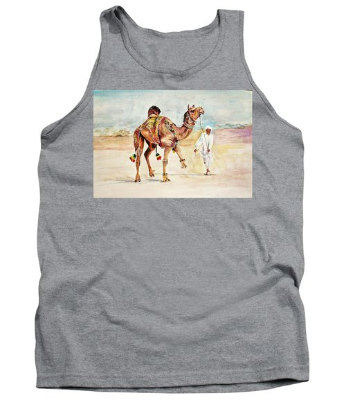 Jewellery And Trappings On Camel. Tank Top
