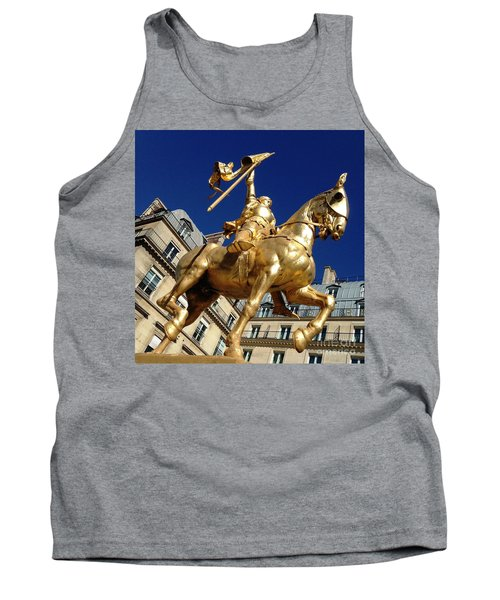 Tank Top featuring the photograph Joan Of Arc - Paris by Therese Alcorn