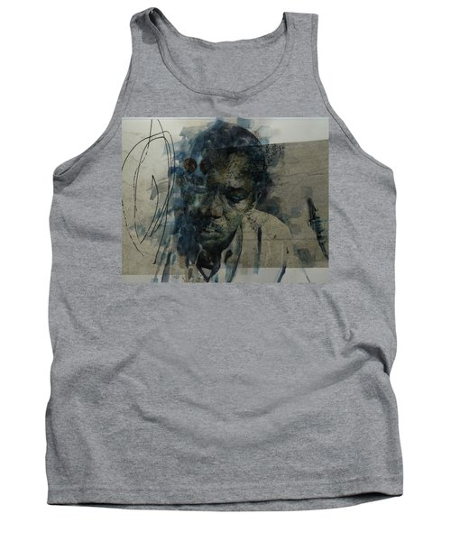 Tank Top featuring the mixed media John Coltrane / Retro by Paul Lovering