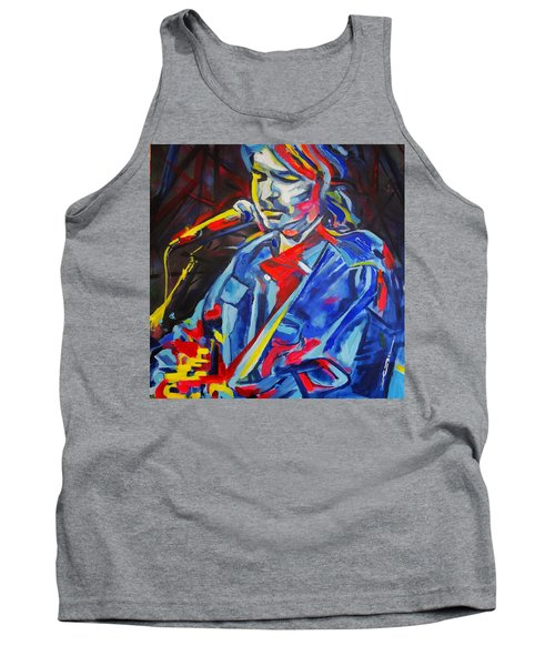 Tank Top featuring the painting John Prine #3 by Eric Dee