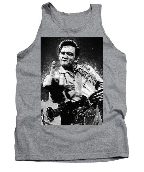 Johnny Cash Tank Top by Taylan Apukovska