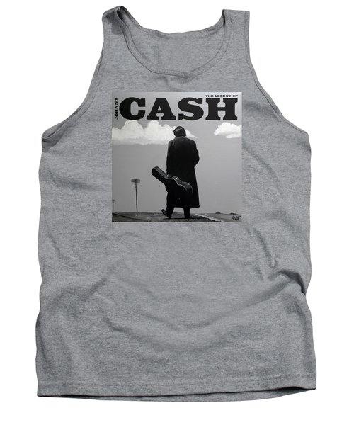 Johnny Cash Tank Top by Tom Carlton