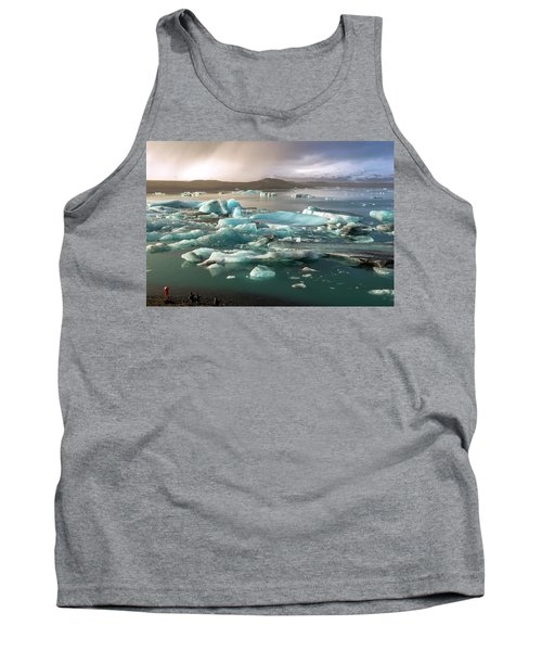 Tank Top featuring the photograph Jokulsarlon The Magnificent Glacier Lagoon, Iceland by Dubi Roman