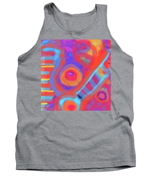Tank Top featuring the painting Juicy Colored Abstract by Susan Stone