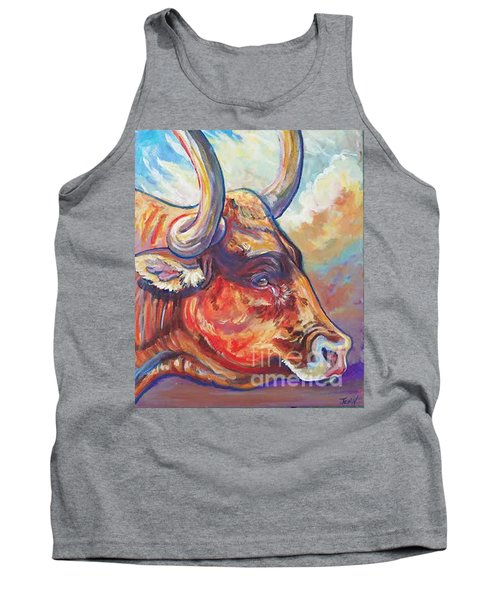 Tank Top featuring the painting Just Looking by Jenn Cunningham