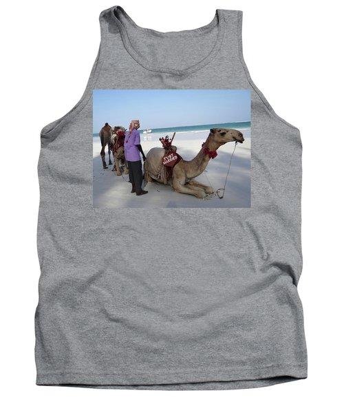 Just Married Camels Kenya Beach Tank Top
