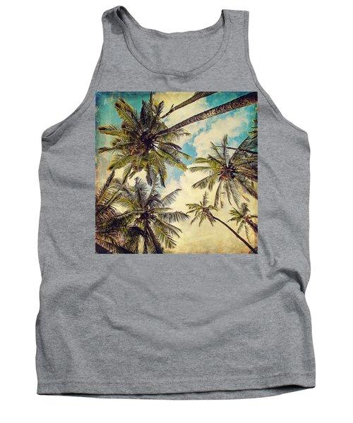 Kauai Island Palms - Blue Hawaii Photography Tank Top