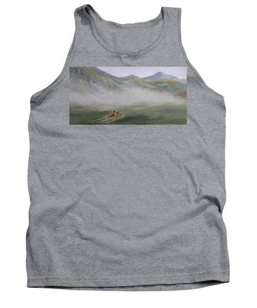 Kayaking Through The Fog Tank Top by Joanne Smoley