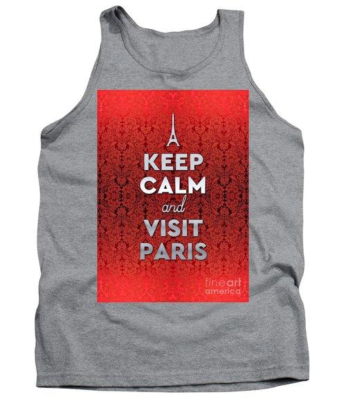 Keep Calm And Visit Paris Opera Garnier Floral Wallpaper Tank Top