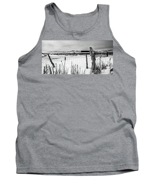 Keeping Watch Black And White Tank Top