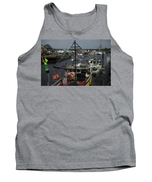 Kennebunkport Harbor In Early Winter Tank Top