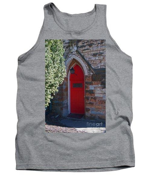 Red Church Door Tank Top