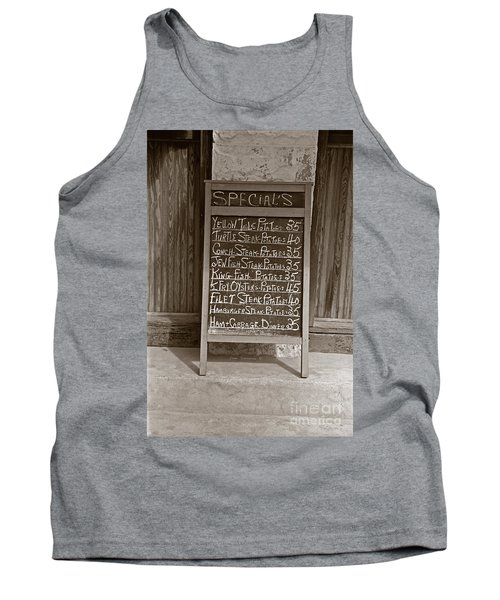 Tank Top featuring the photograph Key West Depression Era Restaurant Specials by John Stephens