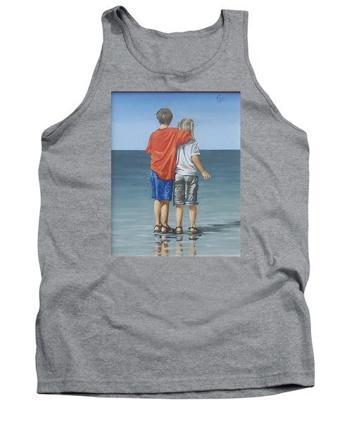Tank Top featuring the painting Kids by Natalia Tejera