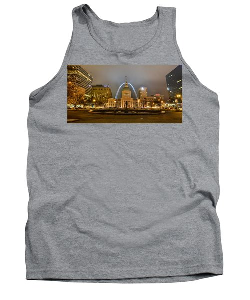 Kiener Plaza And The Gateway Arch Tank Top