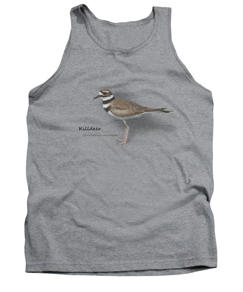 Killdeer - Charadrius Vociferus - Transparent Design Tank Top by Mitch Spence