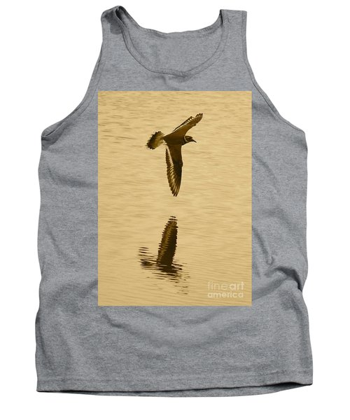 Killdeer Over The Pond Tank Top by Carol Groenen
