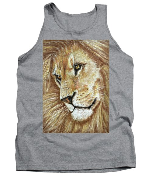 Tank Top featuring the drawing King Of The Jungle by Heidi Kriel