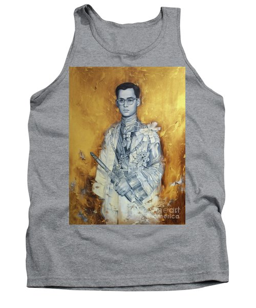 Tank Top featuring the painting King Phumiphol by Chonkhet Phanwichien