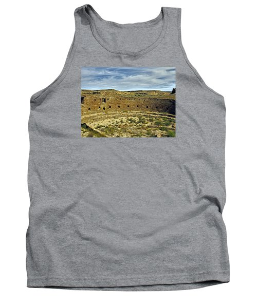 Tank Top featuring the photograph Kiva View Chaco Canyon by Kurt Van Wagner