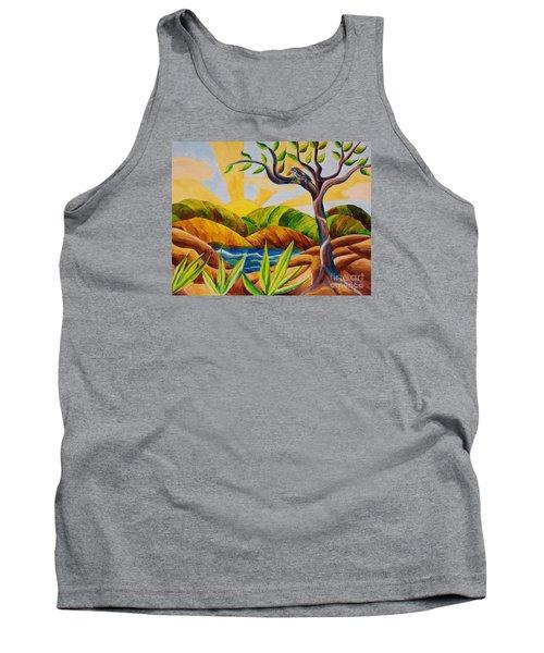 Kookaburra Landscape Tank Top by Judy Via-Wolff