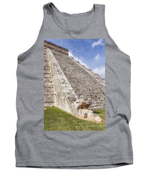 Kukulkan Pyramid At Chichen Itza Tank Top