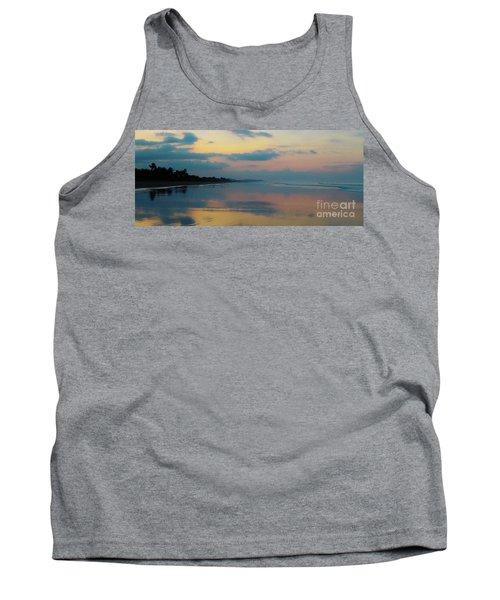 la Casita Playa Hermosa Puntarenas - Sunrise One - Painted Beach Costa Rica Panorama Tank Top