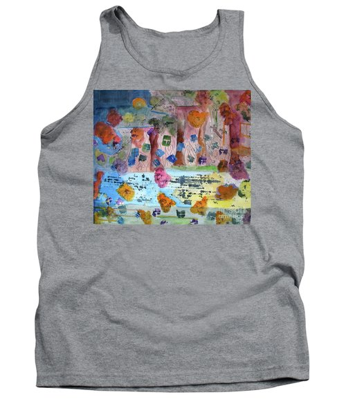 Tank Top featuring the painting La-la Land by Sandy McIntire