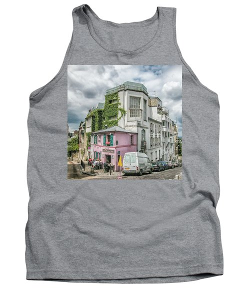 Tank Top featuring the photograph La Maison Rose by Alan Toepfer