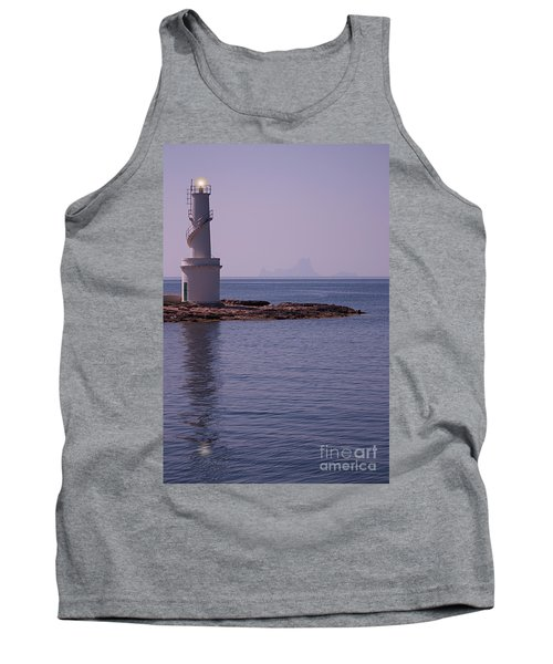 La Sabina Lighthouse Formentera And The Island Of Es Vedra Tank Top