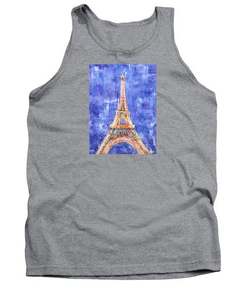 Tank Top featuring the painting La Tour Eiffel by Elizabeth Lock