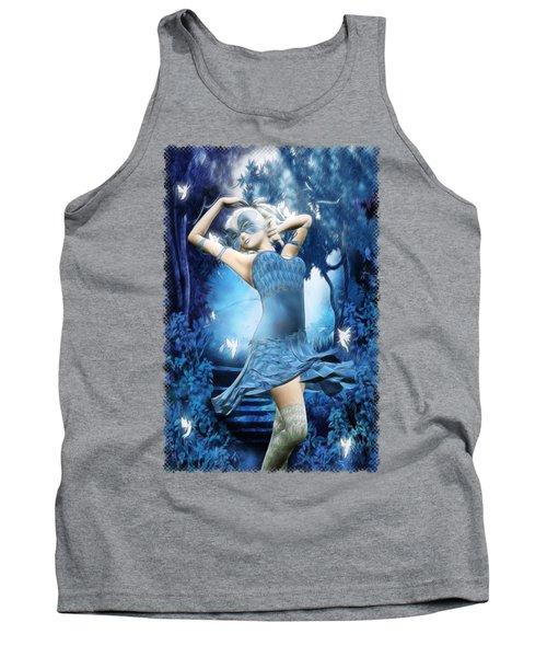 Lady Blue Fantasy Art Tank Top by Sharon and Renee Lozen
