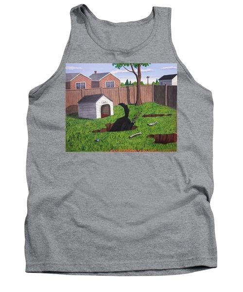 Lady Digs In The Backyard Tank Top