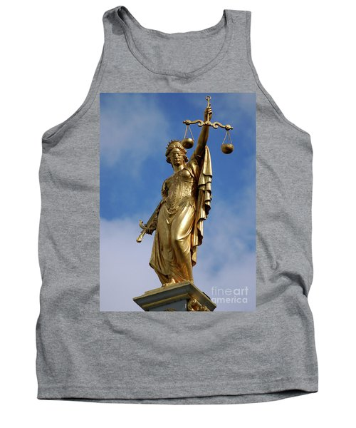 Tank Top featuring the photograph Lady Justice In Bruges by RicardMN Photography