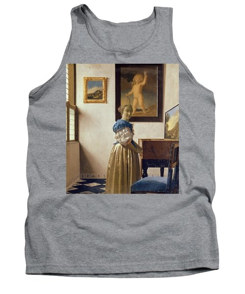 Lady Standing At The Virginal Tank Top