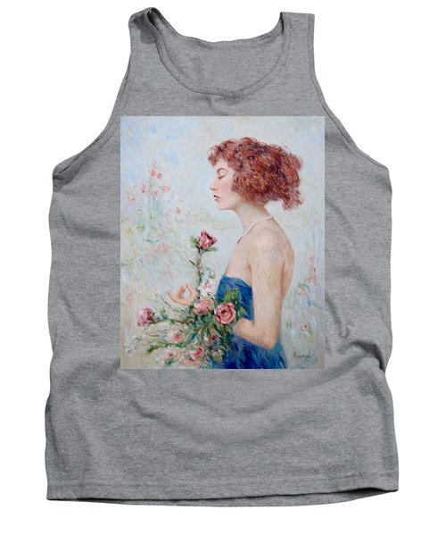 Lady With Roses  Tank Top