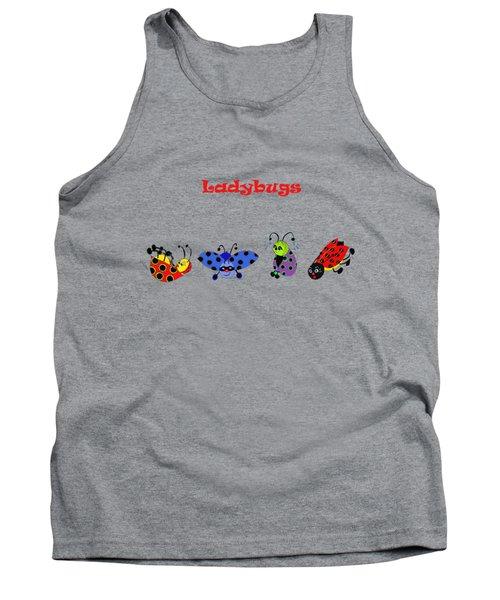 Ladybugs T-shirt Tank Top by Karen Beasley