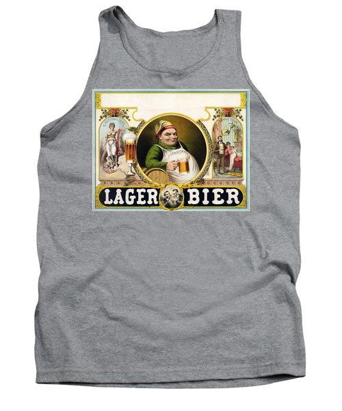 Lager Beer Stock Advertising Poster 1879 Tank Top