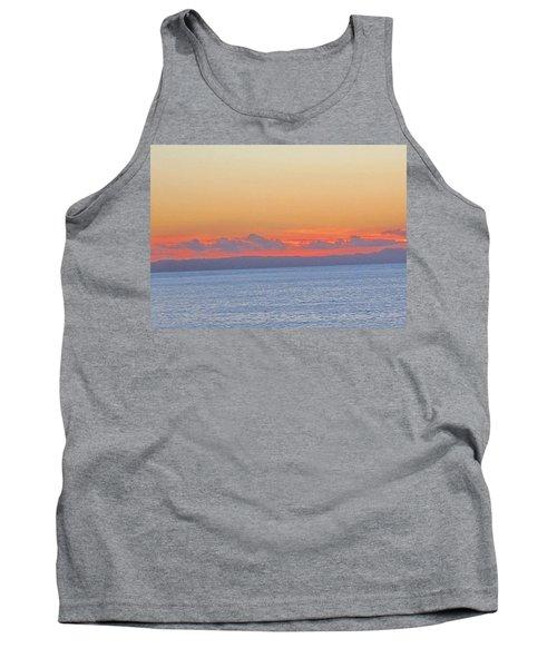 Laguna Orange Sky Tank Top by Dan Twyman