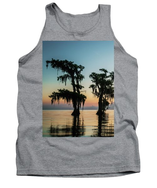 Lake Maurepas Sunrise Triptych No 3 Tank Top by Andy Crawford