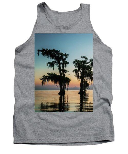 Lake Maurepas Sunrise Triptych No 3 Tank Top