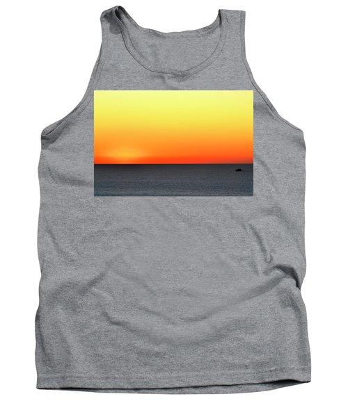 Lake Michigan Sunrise Tank Top by Zawhaus Photography
