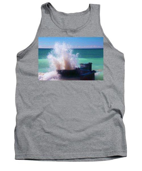 Lake Michigan Wave Crash Tank Top