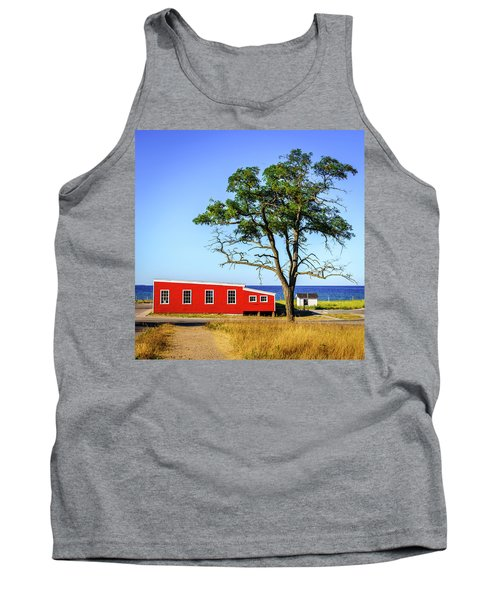 Tank Top featuring the photograph Lakefront In Glen Arbor by Alexey Stiop