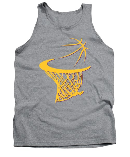 Lakers Basketball Hoop Tank Top by Joe Hamilton